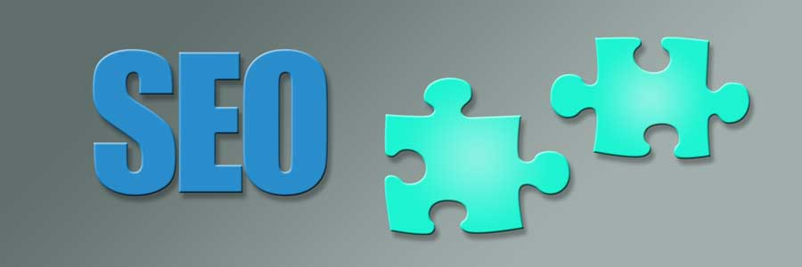 picture of a puzzle piece and the text SEO